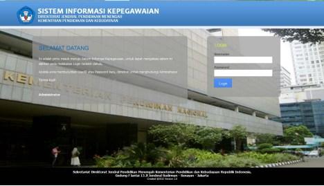 portopolio home sistem informasi kepegawaian